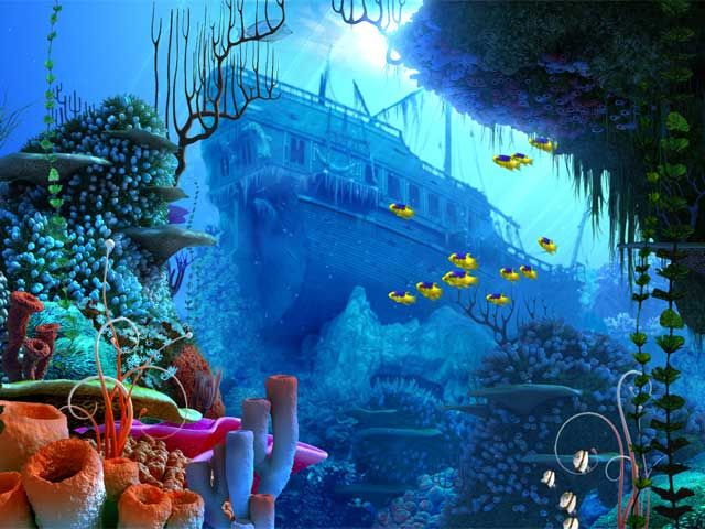 Live Screensavers for Windows 7 Coral Reef 3D