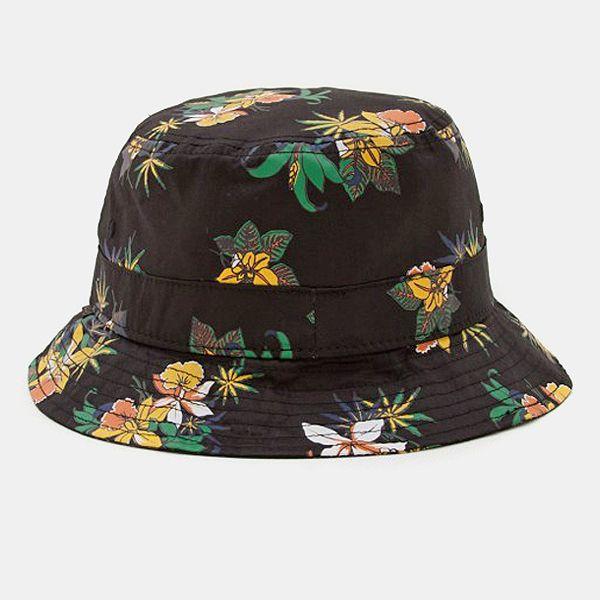 f0dfc590929 Obey Sativa Flora Bucket Hat - Black