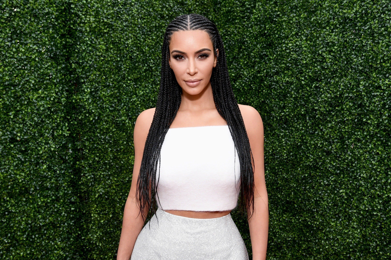 Kim Kardashian West Is  wearing Fulani Braids to the MTV Awards #fulani Braids kim kardashian Kim Kardashian West Is Being Dragged for Wearing Fulani Braids to the MTV Awards # how to do kim kardashian Braids