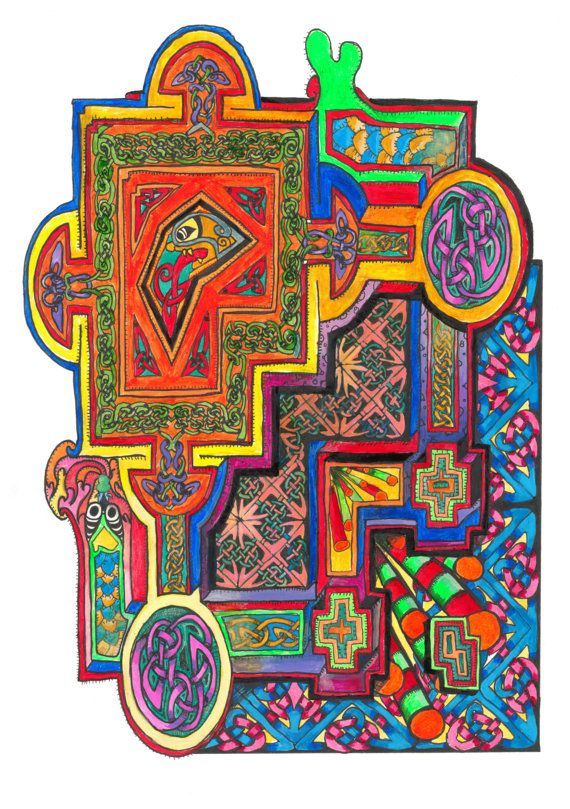 Book of Kells knotwork celtic trippy psychadelic by ...