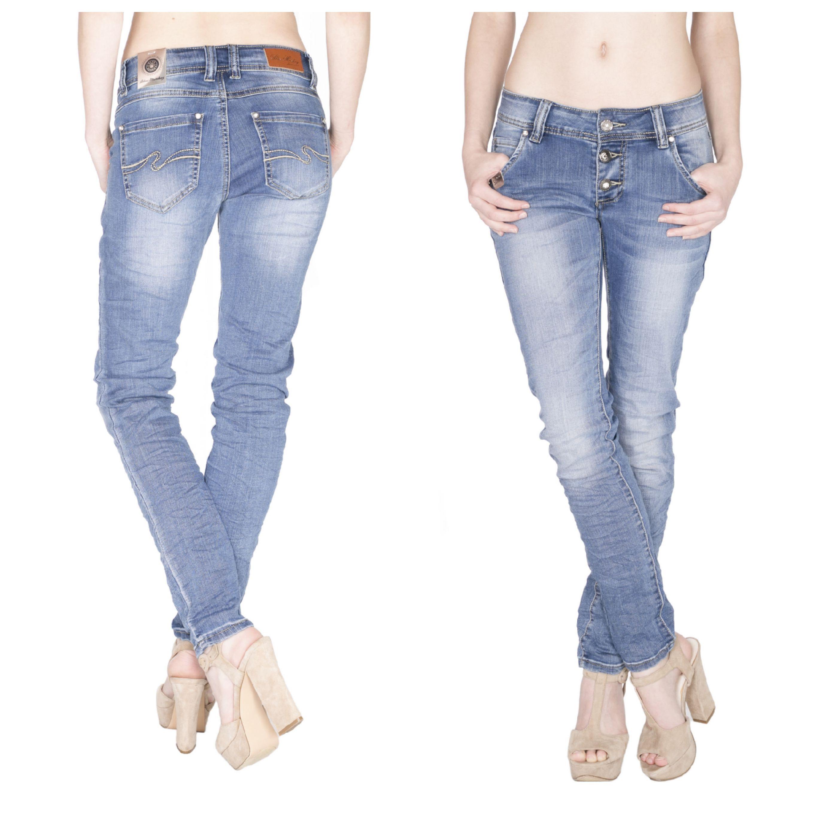 ✓✓✓AUFGEPASST ✓✓✓ Wieder in allen Größen verfügbar! BLUE MONKEY Skinny Jeans mit offener Knopfleiste und Zierknöpfe mit Strass Rosa 3583 ➤➤Rosa 3583 http://bit.ly/1WKZW2G #myjeansshop #bluemonkeyjeans #jeans