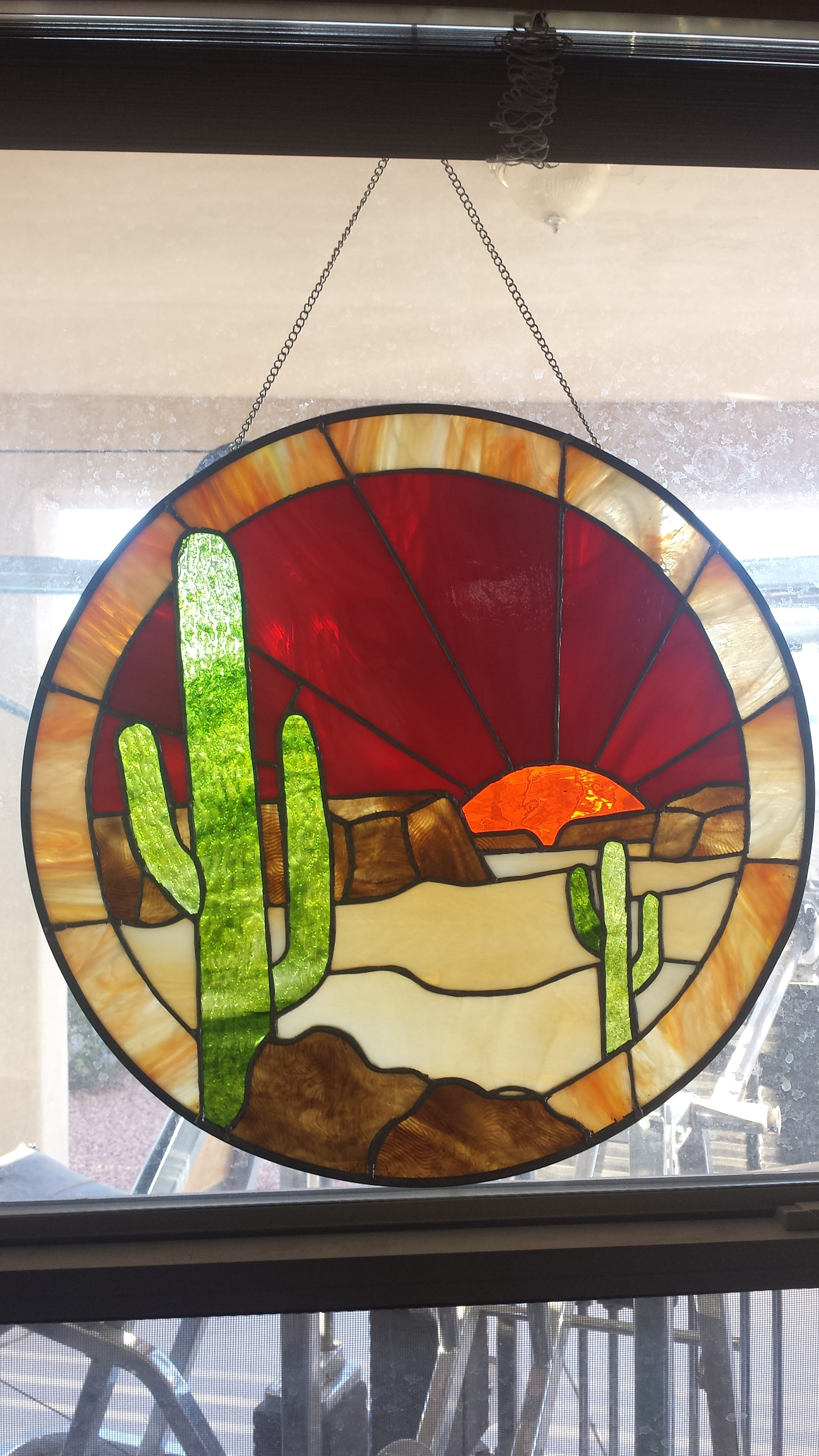 Grams Desert | Stained glass designs, Stained glass, Glass ...