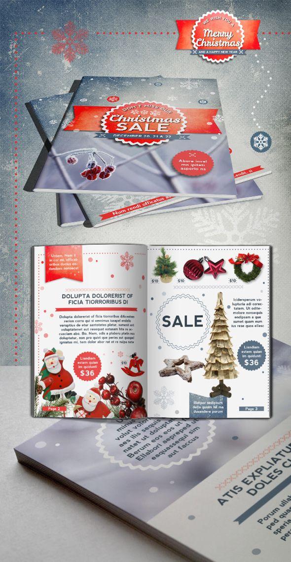 indesign christmas brochure indesign indesign. Black Bedroom Furniture Sets. Home Design Ideas