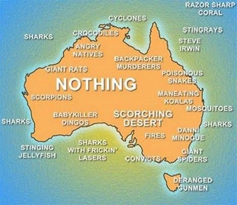 Map Of Australia Funny.And Not Much Worth Stopping For In Between Things That Make Me