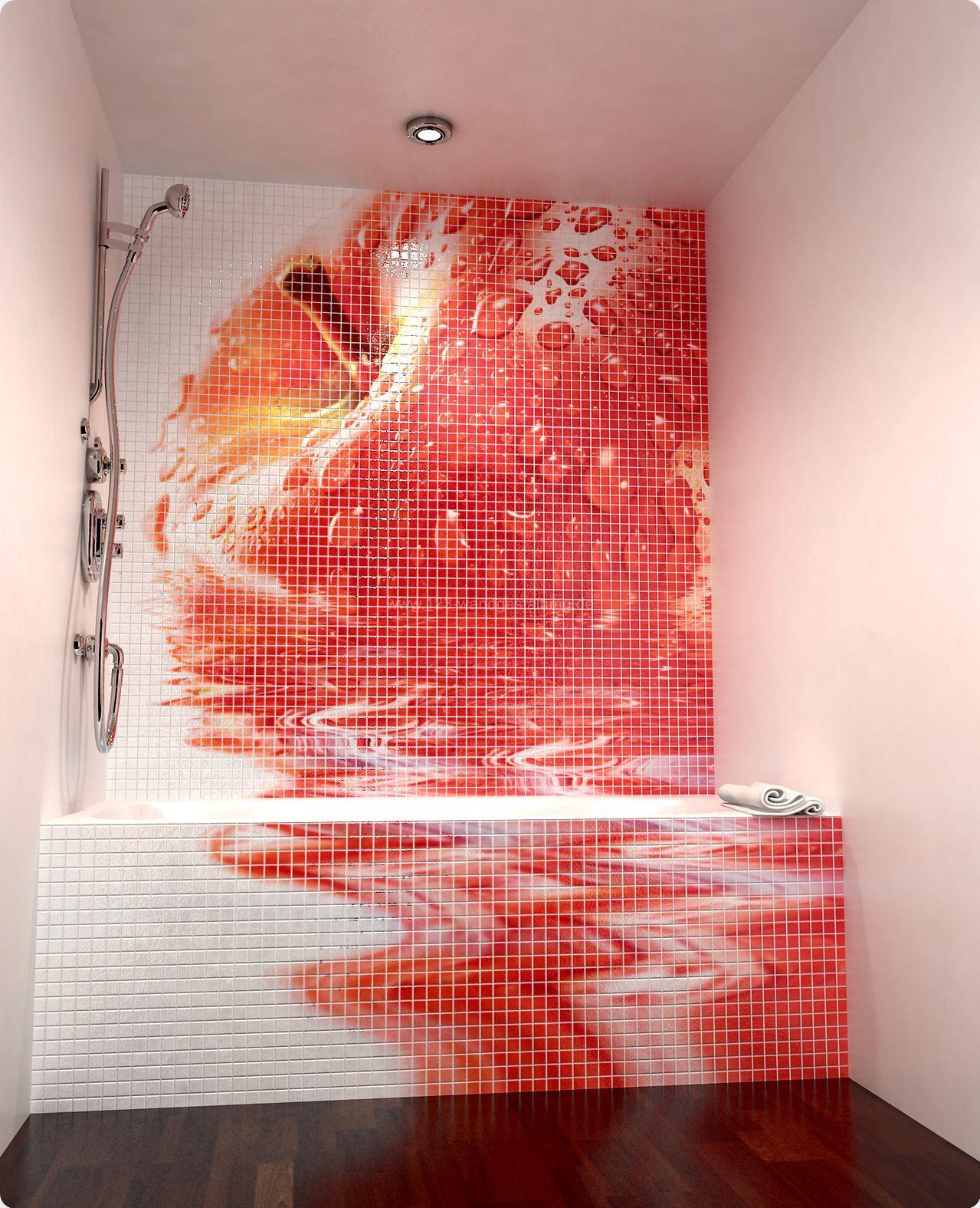 Wandgestaltung Mit Mosaikfliesen Aus Keramik Für Das Badezimmer
