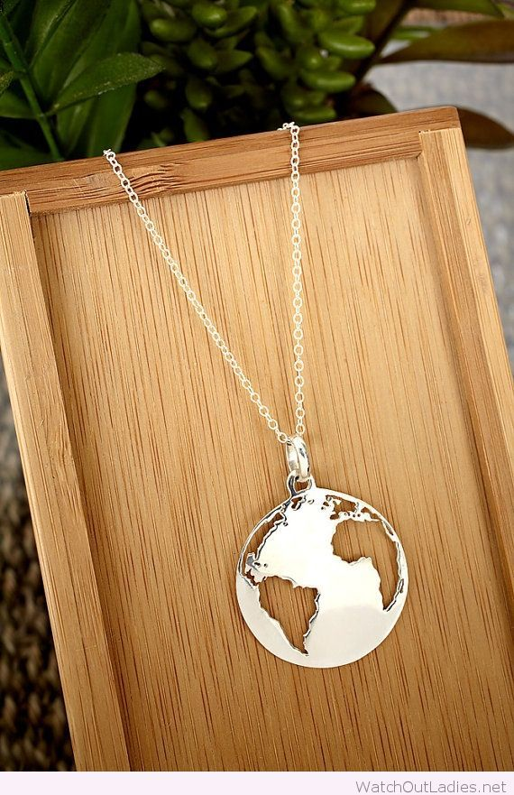 Awesome silver Earth necklace