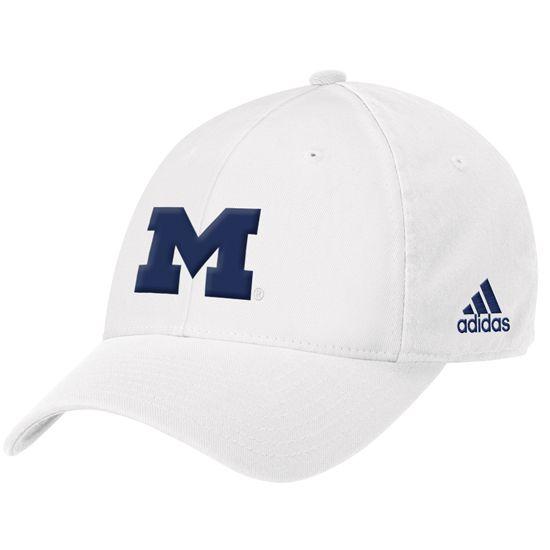 f8a0f217225 Michigan Athletics Game Day Swag For HIM - Adidas University of Michigan  White Flex Block