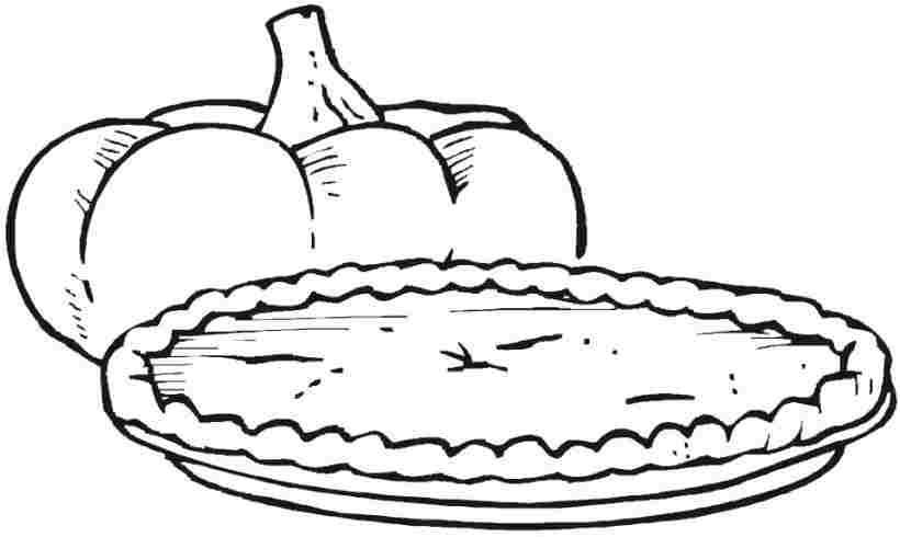 Printable Thanksgiving Food Colouring Pages For Little Kids Food