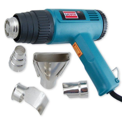 Heat Gun - 1500W - 4 Nozzles - 700F to 920F - An electric heat gun is an easy to operate power tool with so many practical, time-saving functions that we consider it to be an essential tool for every homeowner and professional workbench. For example,