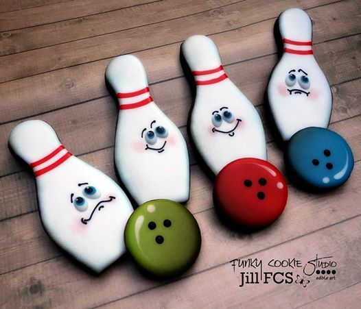 Bowling Balls And Pins Cookie Decorating Sugar Cookies Decorated Birthday Cookies