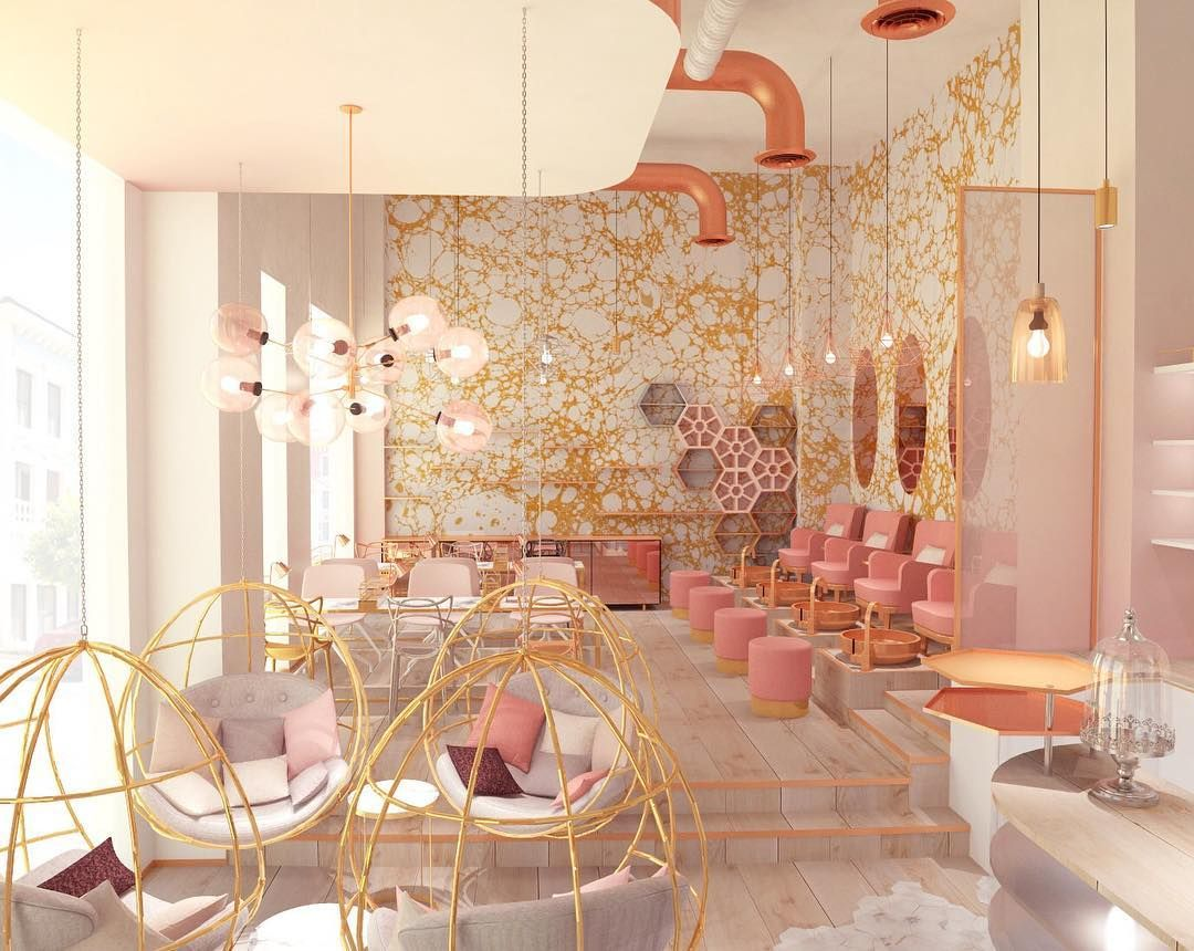 nail studio project in Dubai by @vosarchitects Wabi Cloud wallpaper ...