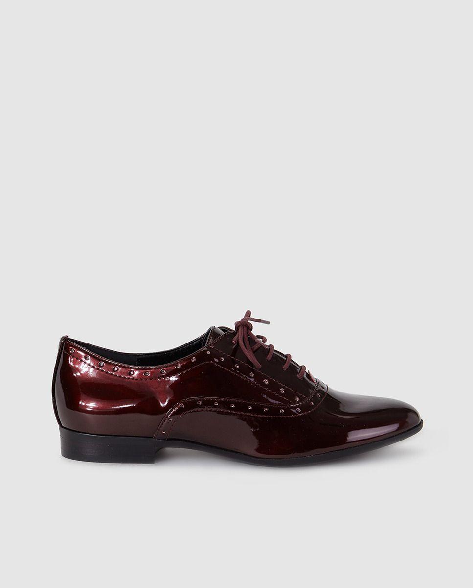 b136f0d10d681 Zapatos de cordones de mujer Steve Madden granates