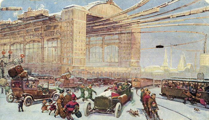 открытки москва будущего Future Moscow 1914 postcard