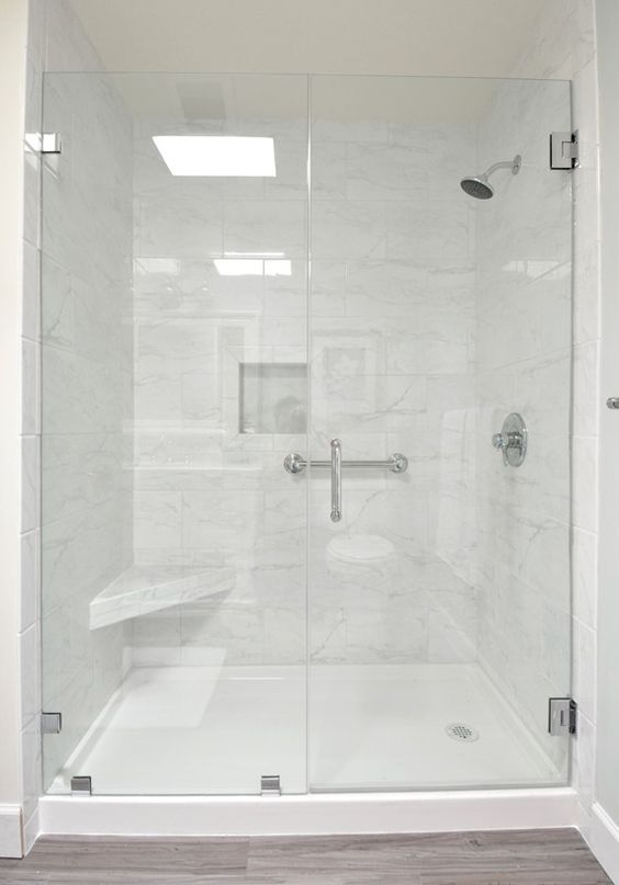 Step by Step DIY Bathroom remodel: Tub/shower combo replaced with a ...