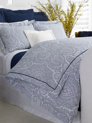 Navy Brentwood Paisley Duvet Paisley Duvet Blue And White Bedding Bed