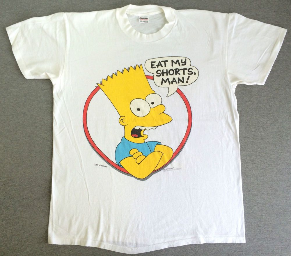 Black keys t shirt etsy - Simpsons T Shirt 90s Usa 1990 Eat My Shorts Matt Groening Xl Simpsons Shirt