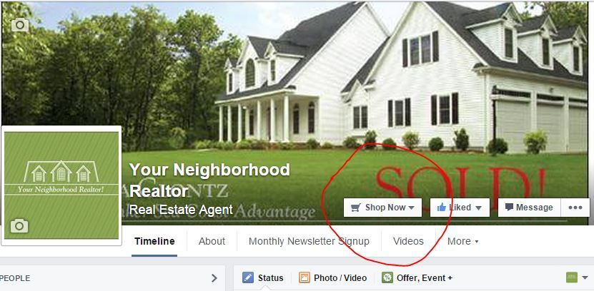 "Use the ""Shop Now"" button on our Facebook to search for available homes for sale"