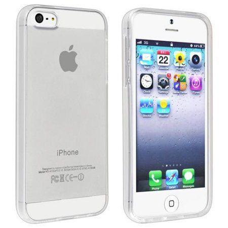 Insten TPU Rubber Skin Case For Apple iPhone SE / 5 / 5s, Clear for ONLY $1.00!!! (Reg.$9.99) - http://supersavingsman.com/insten-tpu-rubber-skin-case-apple-iphone-se-5-5s-clear-1-00-reg-9-99/