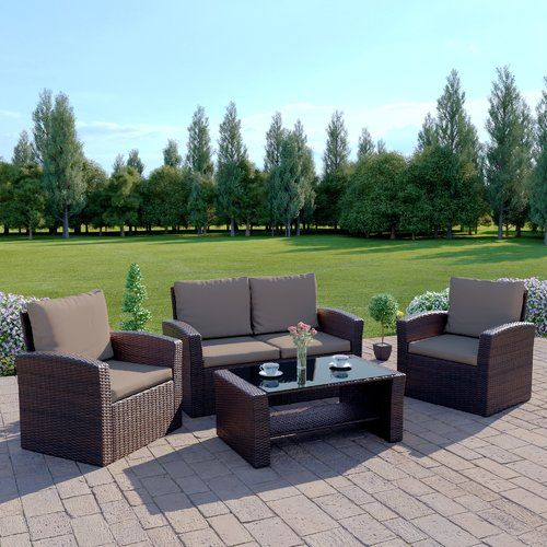 Excellent Lantremange 4 Seater Rattan Effect Sofa Set Sol 72 Outdoor Ibusinesslaw Wood Chair Design Ideas Ibusinesslaworg