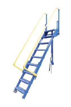 10 Step Folding Mezzanine Ladders 10 Step Mezzanine Ladders Dockladdersdepot Com Retractable Stairs Loft Ladder Vestil