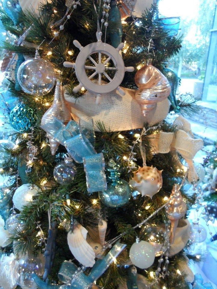 Nautical Christmas Tree Nautical Christmas Tree A Nautical Christmas Coastal Christmas Decor Christmas Decorations Beach Christmas Decorations