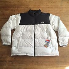 NEW The North Face Mens Nuptse Jacket 700 Down Insulated XXXL 3XL White    Black 96521bacb