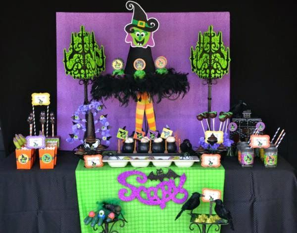 Halloween cumplea os infantiles buscar con google for Decoracion mesa halloween
