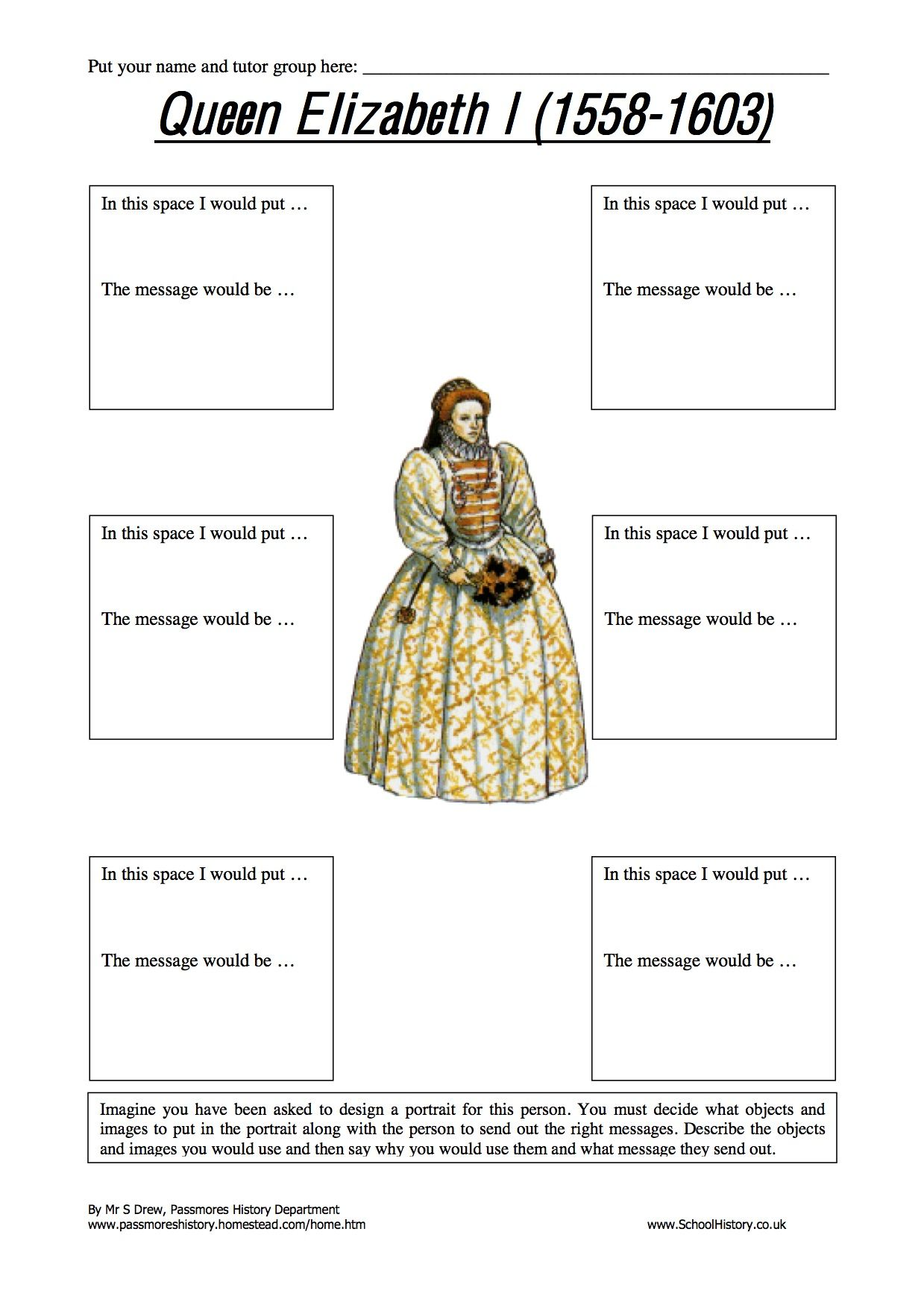 Elizabeth I Worksheets