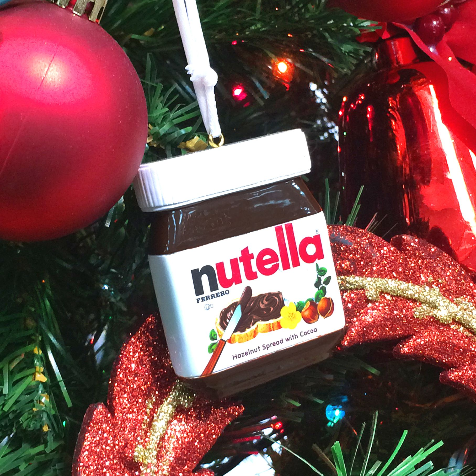 No Tree Is Complete Without The Official Nutella Ornament Nutella Nutella Lover New Years Eve Day