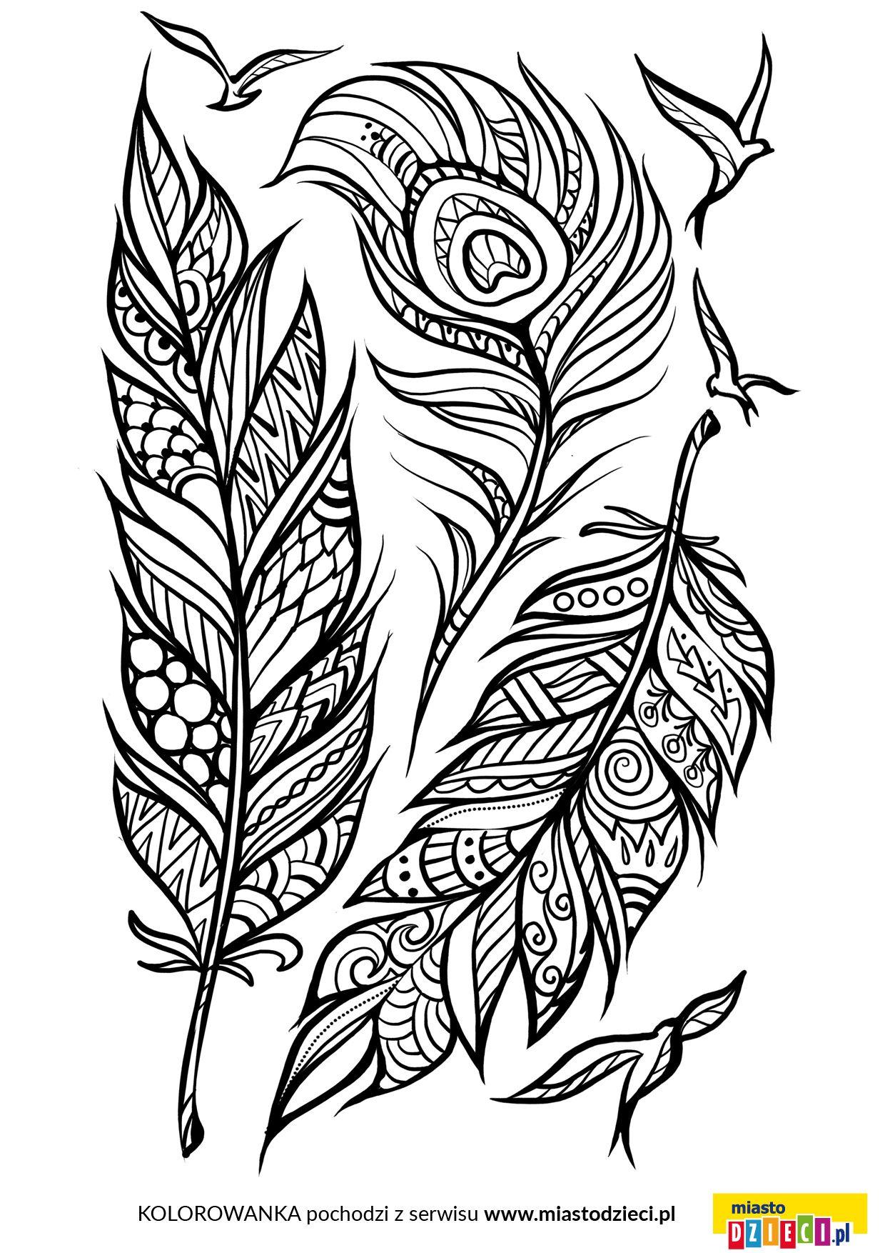 Piora Kolorowanka Dla Doroslych Dark Art Drawings Feather Drawing Feather Art