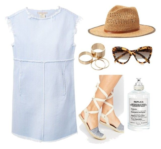 By the Beach by kayleneamber on Polyvore featuring polyvore, fashion, style, Marc by Marc Jacobs, ASOS, Call it SPRING, Prada, Apt. 9 and Maison Margiela