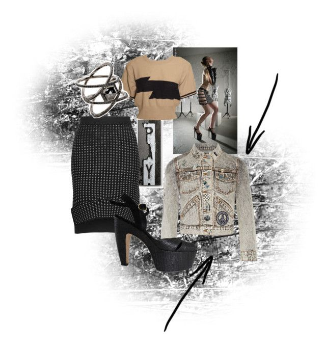 """Blackish"" by blumbeeno ❤ liked on Polyvore featuring Lyon Béton, Jonathan Simkhai, Sonia Rykiel, Marc Jacobs, Eva Fehren and Fendi"
