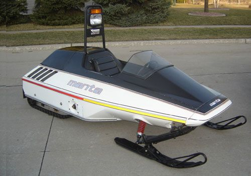 1983 Manta 340 Twin Track Vintage Sled Sled Ride Snowmobile