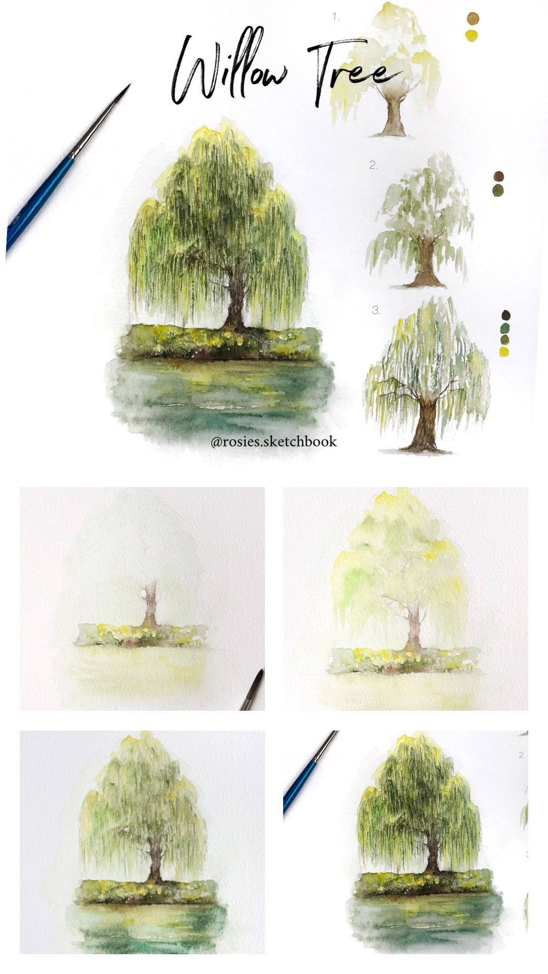 Mini Willow Tree Tutorial With Step By Step Process Photos