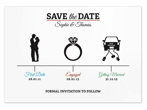 22 creative save the dates for your inspiration secret wedding