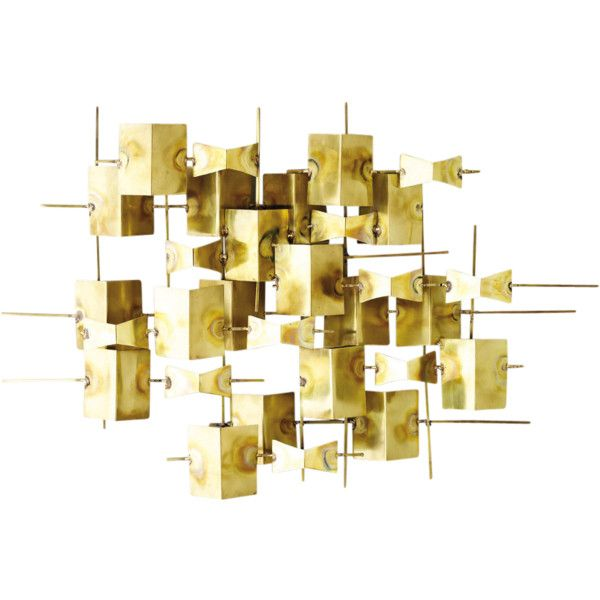 Global Views Folded Brass Wall Decor Yellow By (20,775 PHP) ❤ liked ...