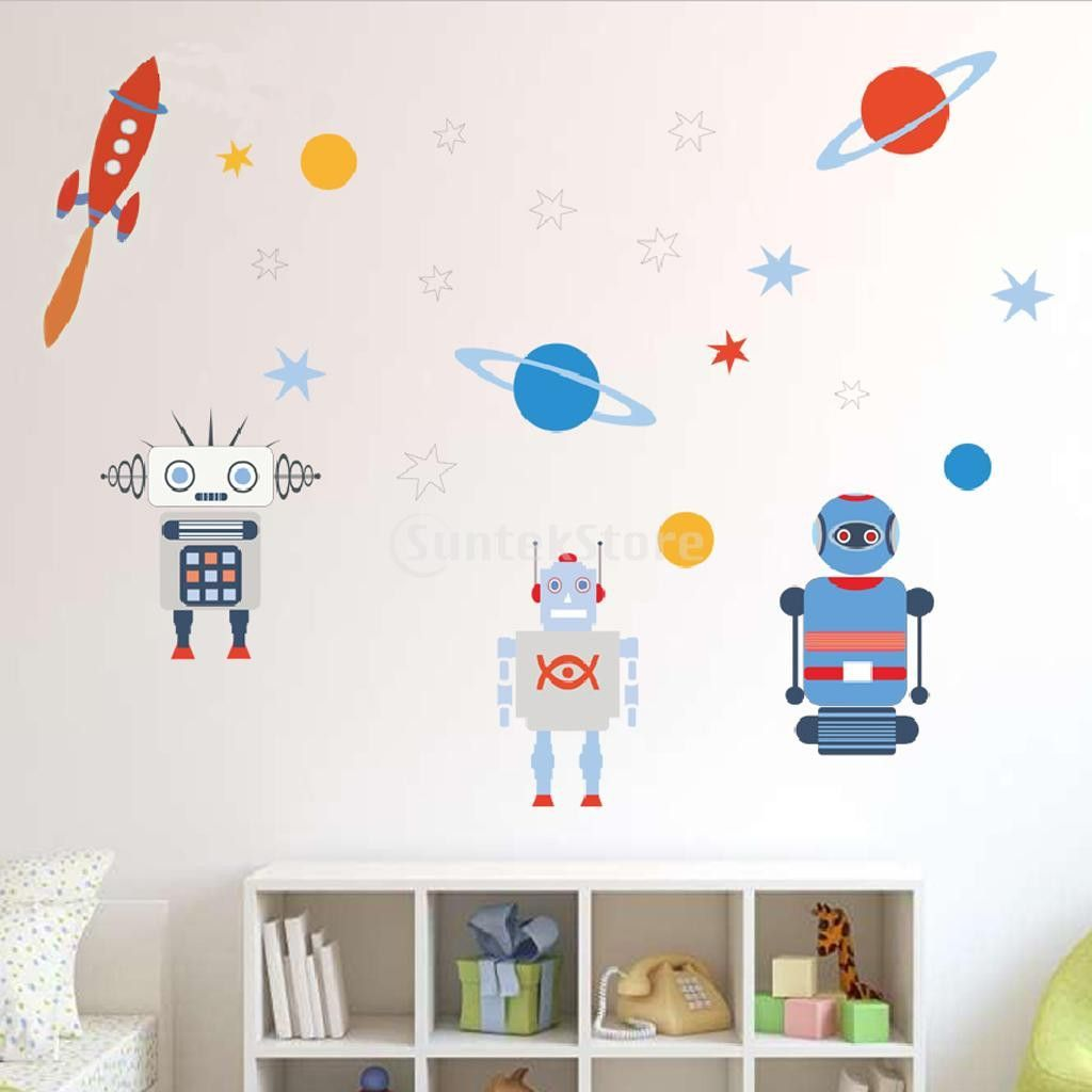 Retro style Robot Wall Decals