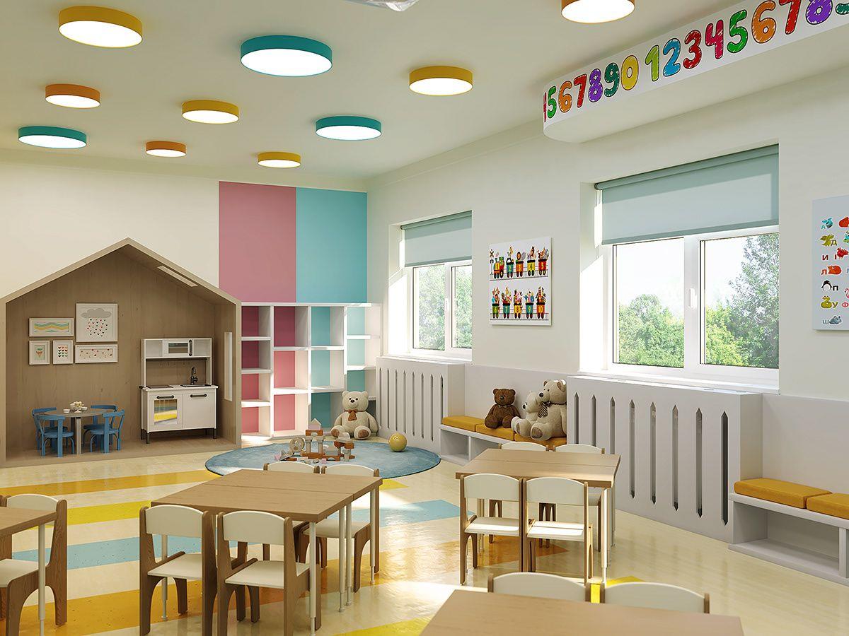 Kindergarten Interior Design On Behance Kindergarten Interior Classroom Interior School Interior Preschool room design ideas