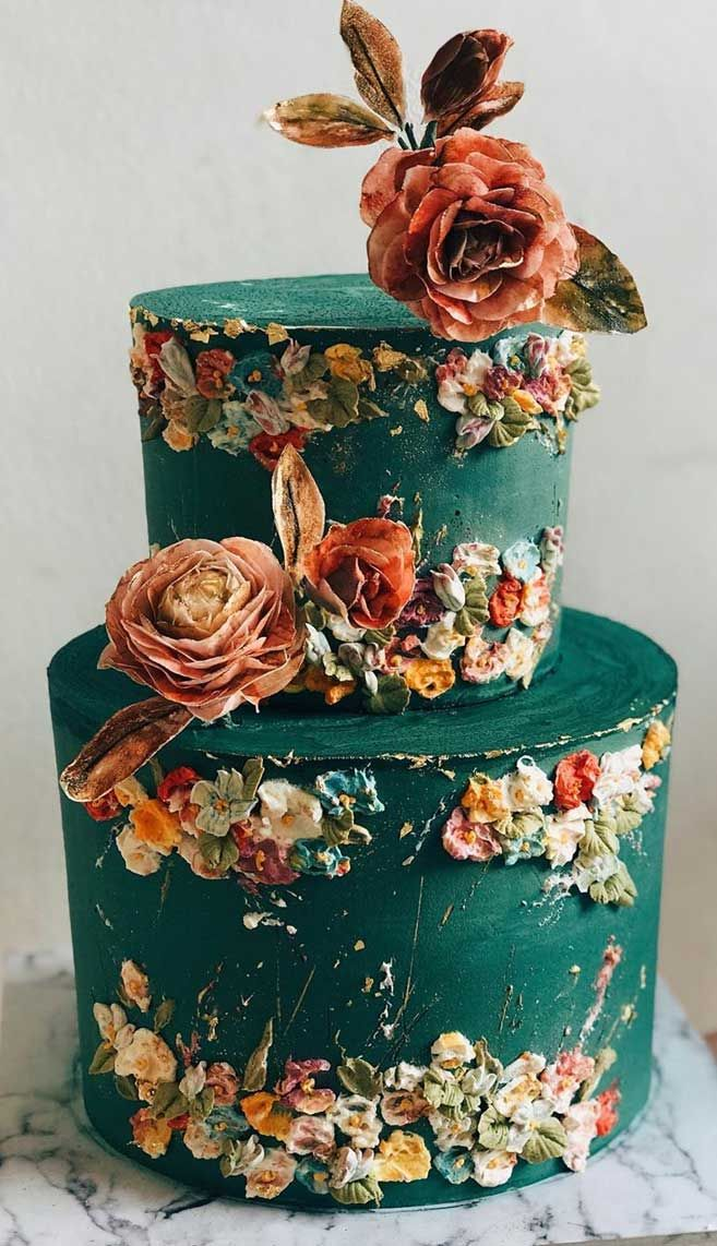 The 50 Most Beautiful Wedding Cakes - Painted wedding cake