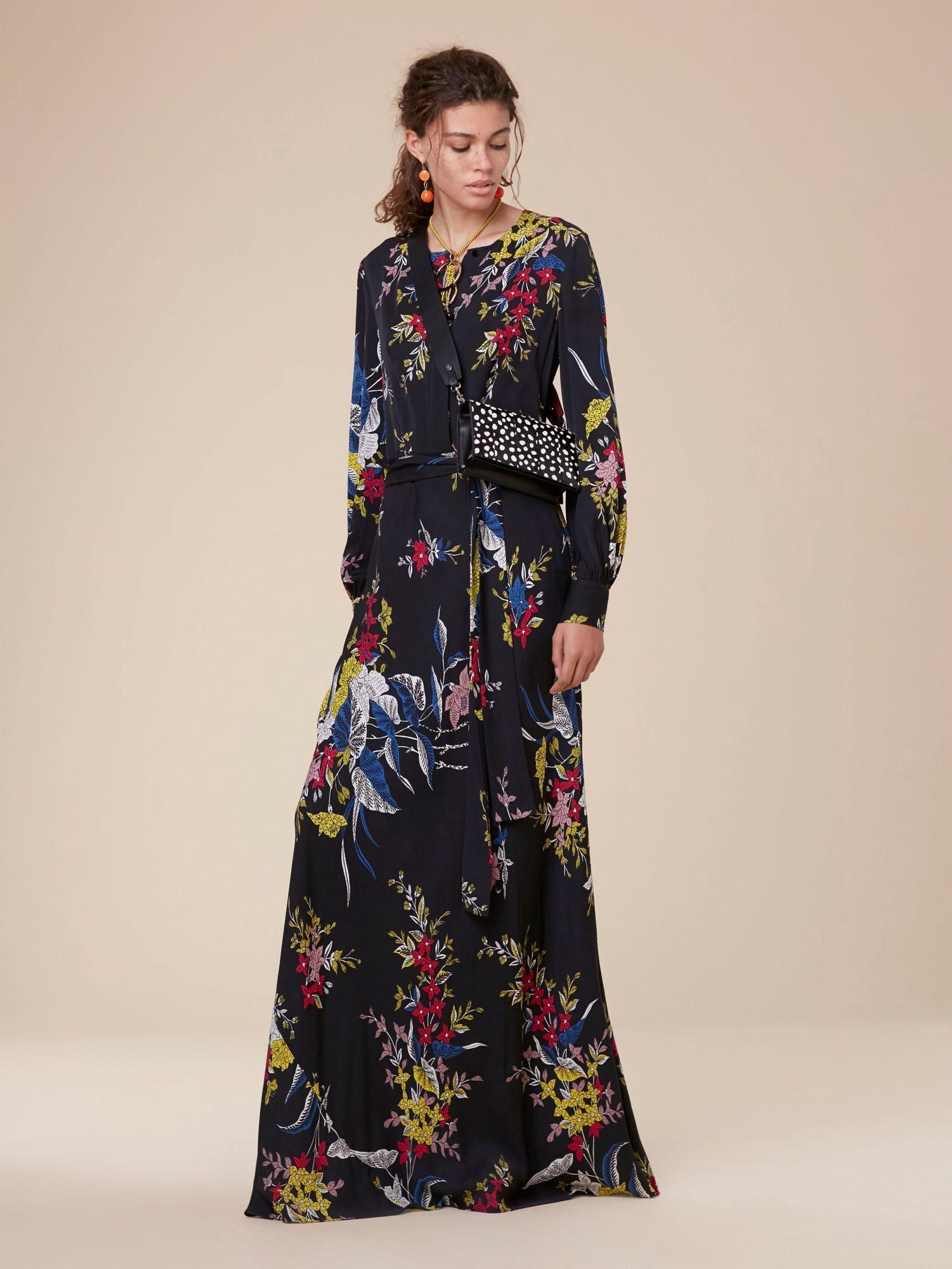 bca972fa449 Diane Von Furstenberg Dvf Waist Tie Maxi Dress - Camden Black 10