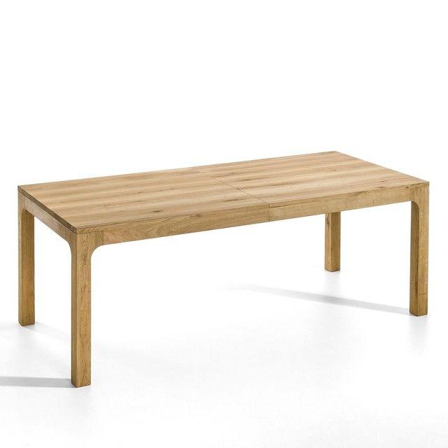 table chêne massif à allonges, théadora | d, design and tables