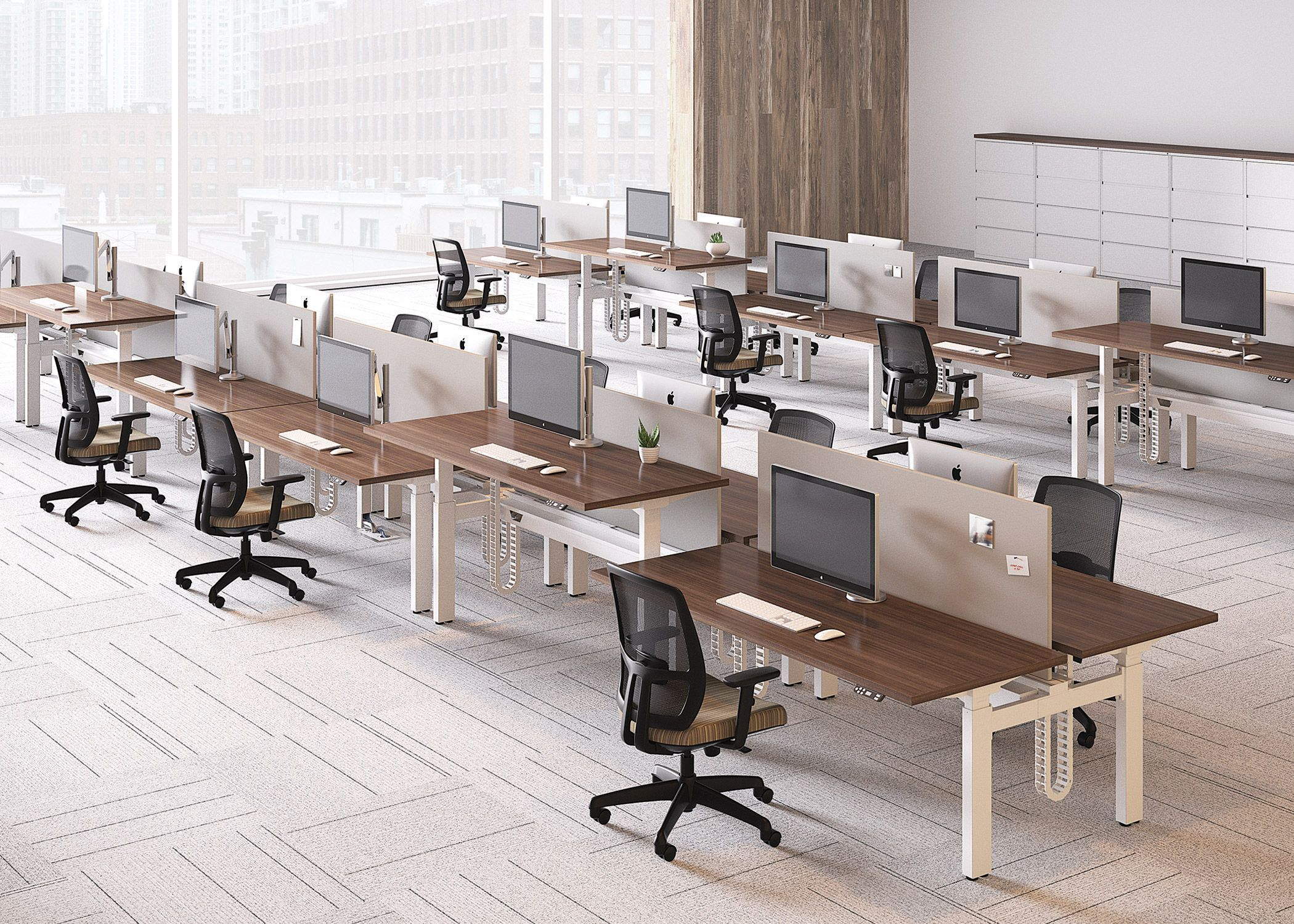 Alloy National Office Furniture Adjustable Height Units