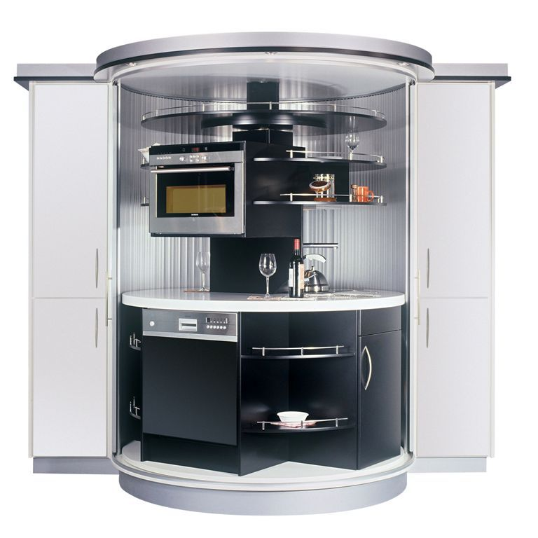Complete Mini Kitchens: Complete Tiny Kitchen For Small Modern House Black And