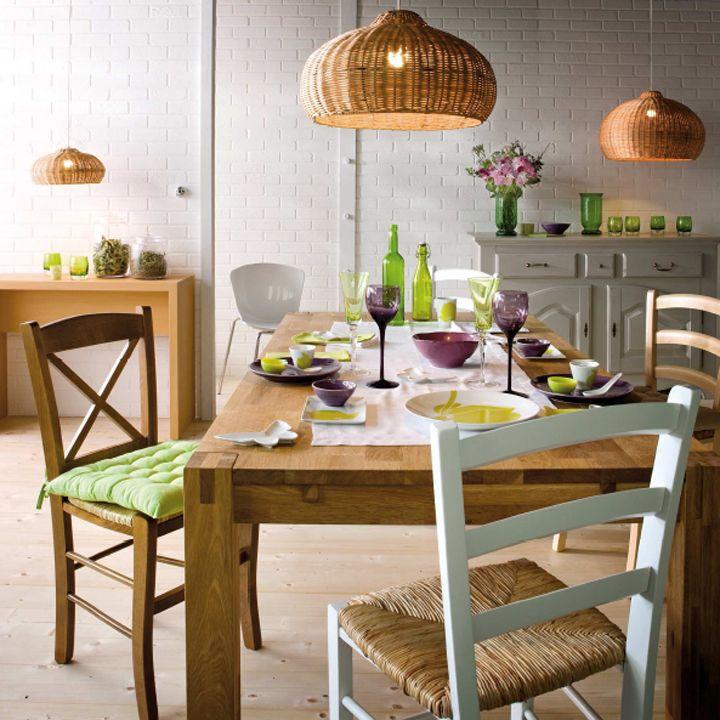 Visitez La Maison Ideale Selon But La Salle A Manger Naturelle Deco Plurielles Fr Casual Dining Rooms Dining Table Lamps Home