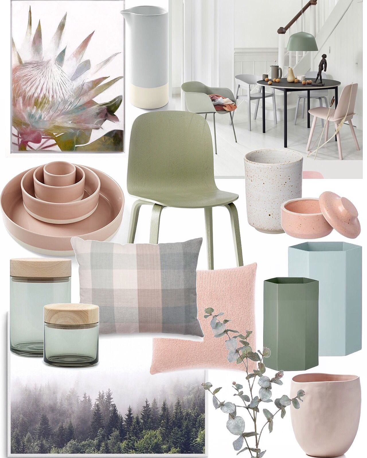 Best Blush Pink Ice Blue Sage Grey Living Room Green 640 x 480