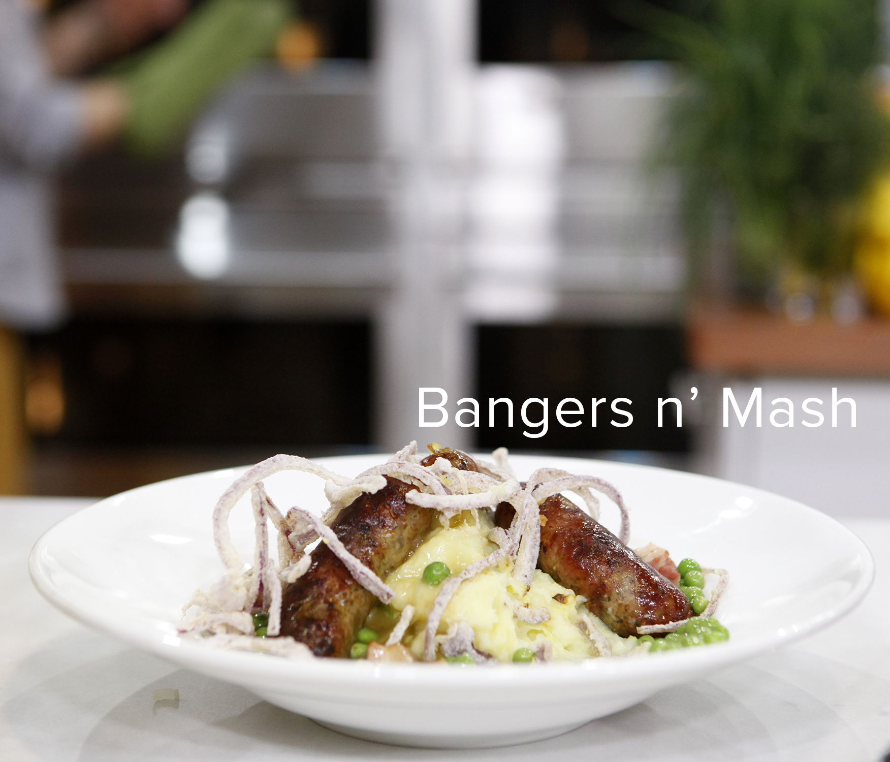 Make a british feast bangers n mash tomato soup cake