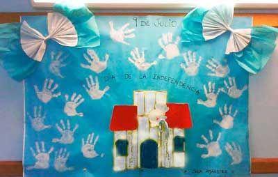 9 de julio ideas para carteleras mi sala amarilla for Decoracion 9 de julio primaria