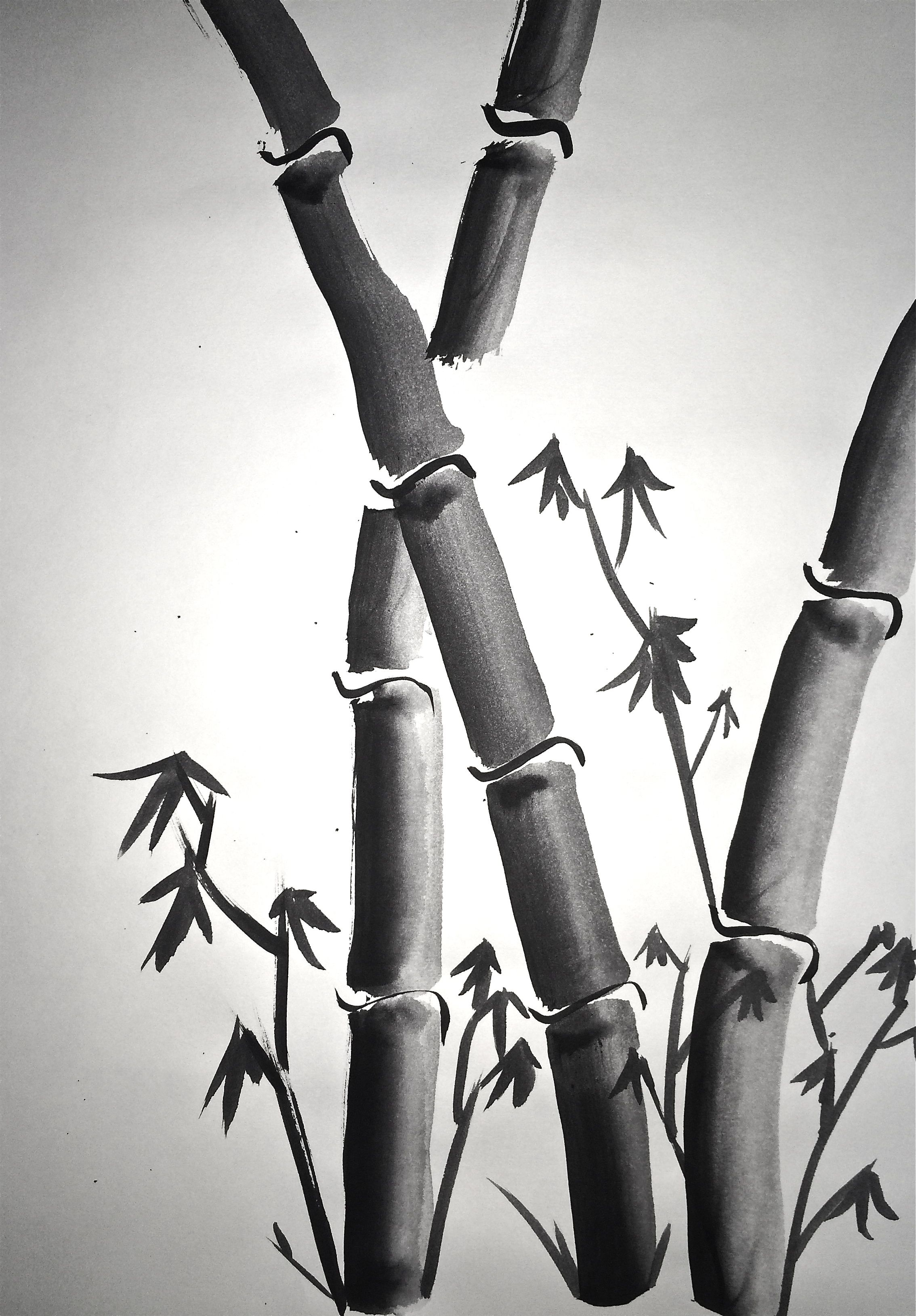 Sumi-e Painting 4 Basic Brushstrokes: Lesson 2 | /Art/sketch ...