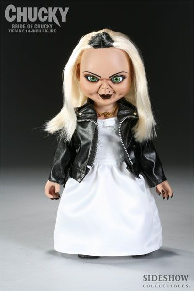bride of chucky 14 tiffany doll by sideshow collectibles toys and