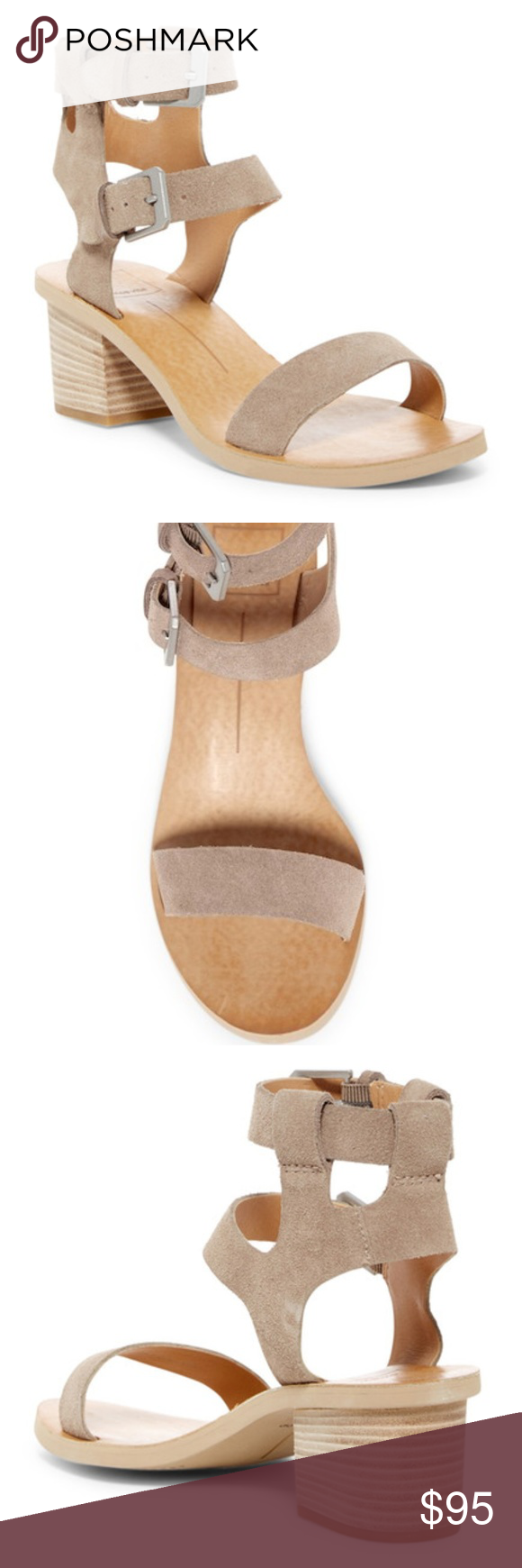 df81fc3a190 Dolce Vita West Dual Strap Suede Taupe Sandals Dolce Vita Dual West Suede  Taupe Sandals Heels